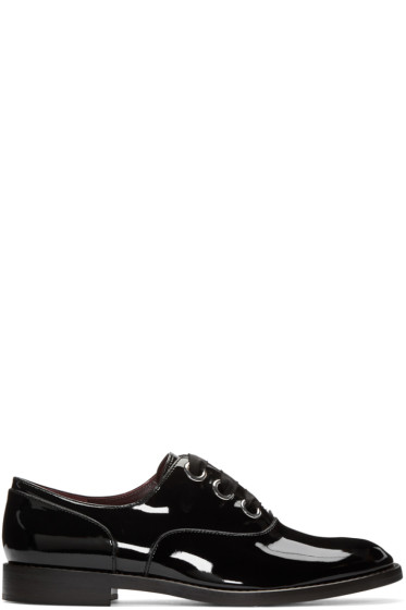 Marc Jacobs - Black Patent Leather Helena Oxfords
