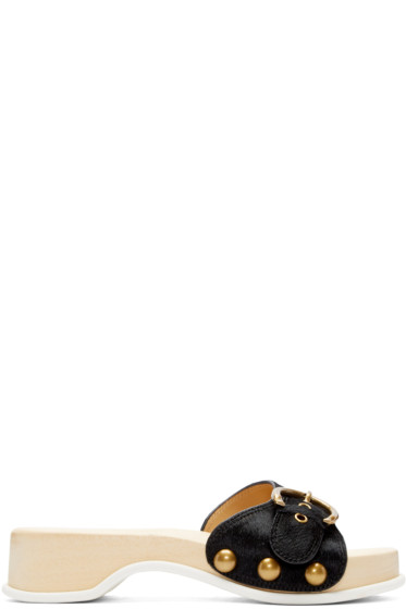 Marc Jacobs - Black Ponyhair Anita Clogs