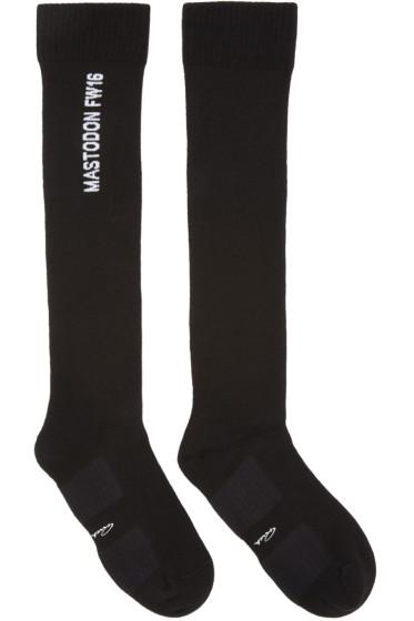 Rick Owens - Black Mastodon Knee-High Socks