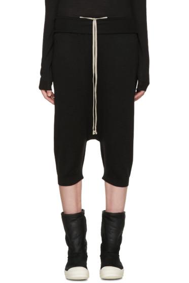 Rick Owens - Black Wool Pods Lounge Pants