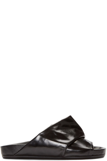 Rick Owens - Black Mobius Granola Sandals