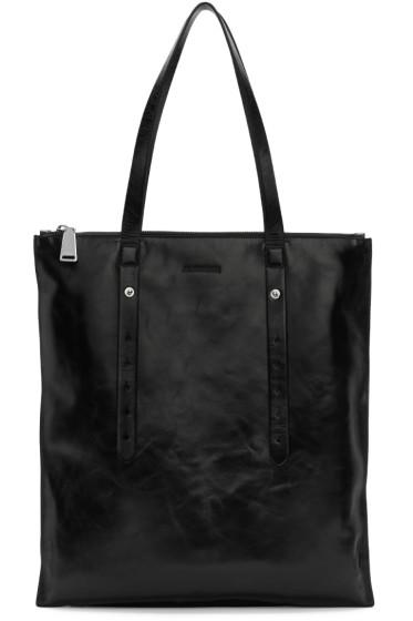 Jil Sander - Black Rolled Shopper Bag