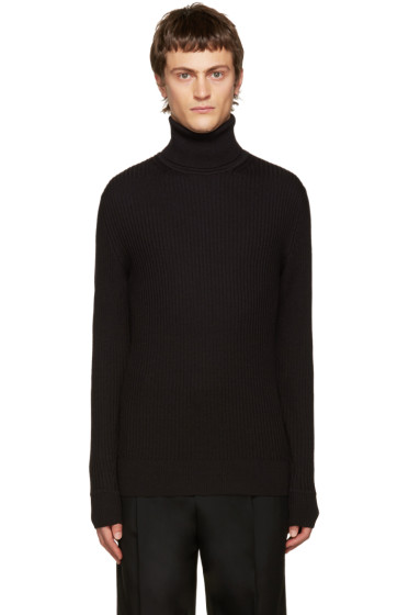 Jil Sander - Black Ribbed Turtleneck