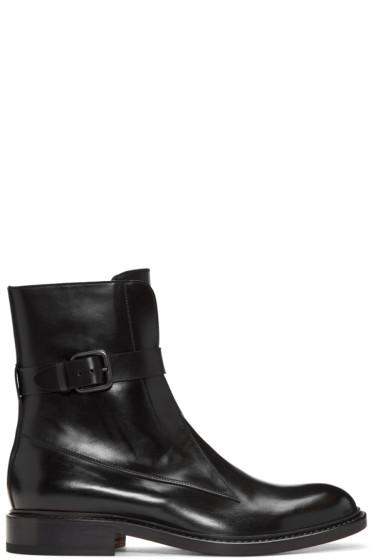Jil Sander - Black Ankle Strap Boots