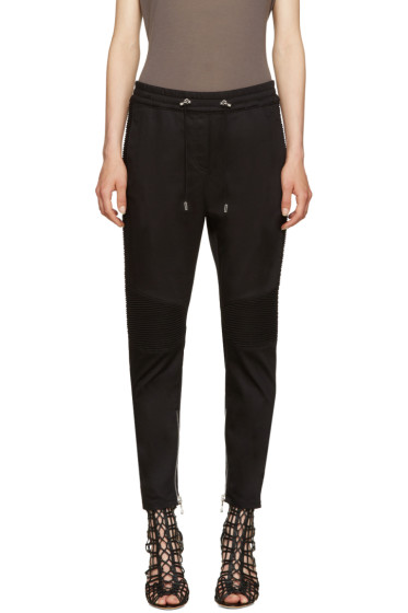 Balmain - Black Twill Jogger Lounge Pants