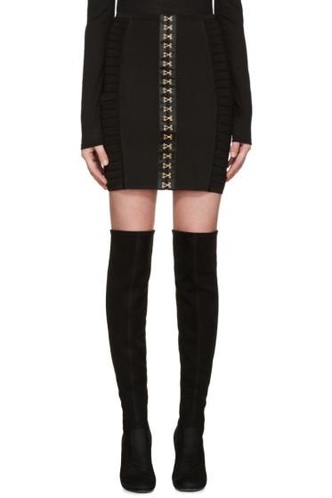 Balmain - Black Hook-Eye Miniskirt