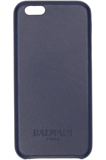 Balmain - Navy Leather iPhone 6 Case
