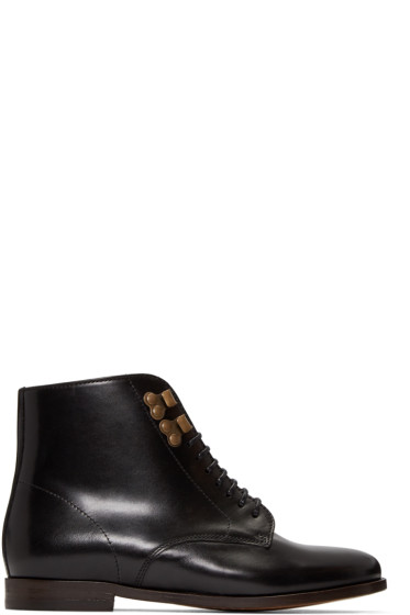 A.P.C. - Black Leather Françoise Boots