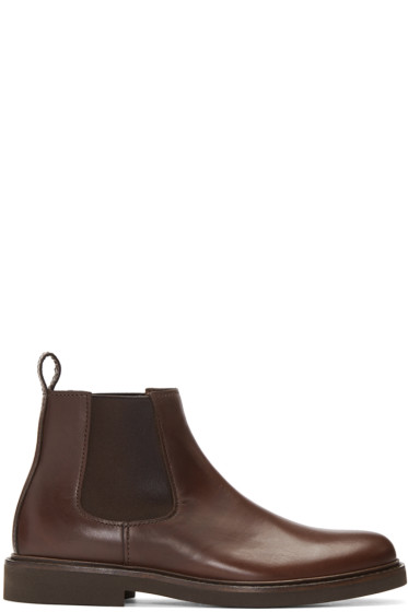 A.P.C. - Brown Grant Chelsea Boots