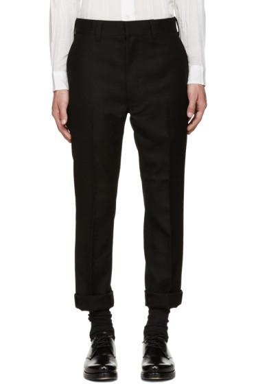 Junya Watanabe - Black Wool Slim Trousers