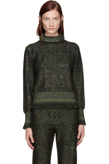 Lanvin - Green Metallic Turtleneck