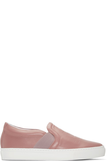Lanvin - Pink Leather Slip-On Sneakers