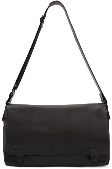 Lanvin - Black Leather Messenger Bag
