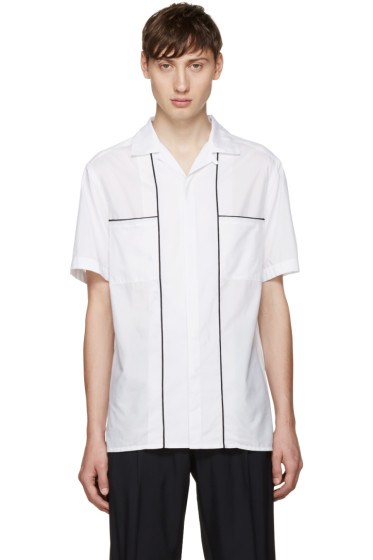Lanvin - White Open Collar Shirt