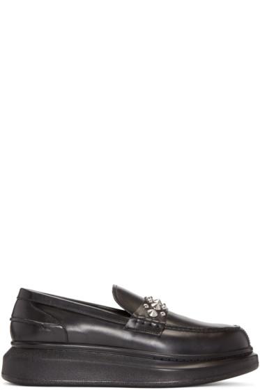 Alexander McQueen - Black Studded Platform Loafers