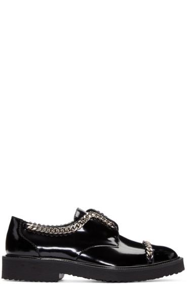 Giuseppe Zanotti - Black Patent Leather Chain Derbys