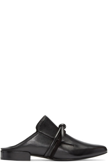 3.1 Phillip Lim - Black Friendship Knot Louie Loafers