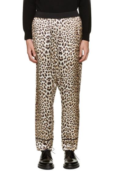 3.1 Phillip Lim - Beige Reversible Leopard Trousers