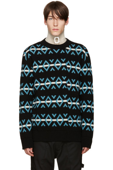 Raf Simons - Multicolor Jacquard Knit Sweater