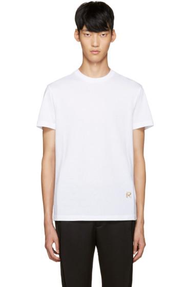 Raf Simons - White Embroidered Logo T-Shirt