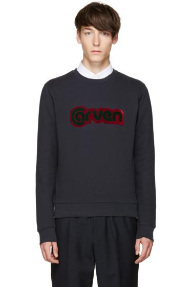 Carven - Blue Logo Pullover