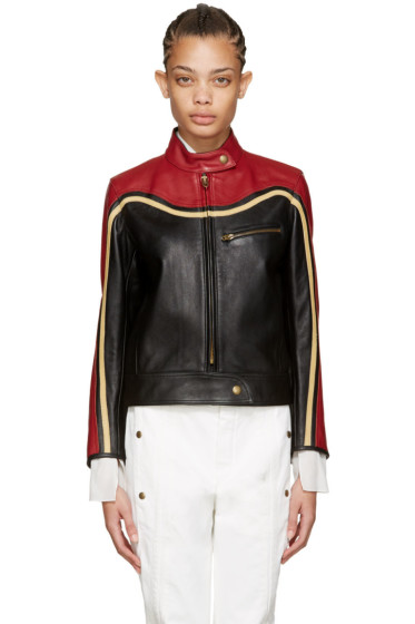 Chloé - Black Leather Biker Jacket
