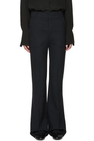 Chloé - Navy Stretch-Wool Trousers