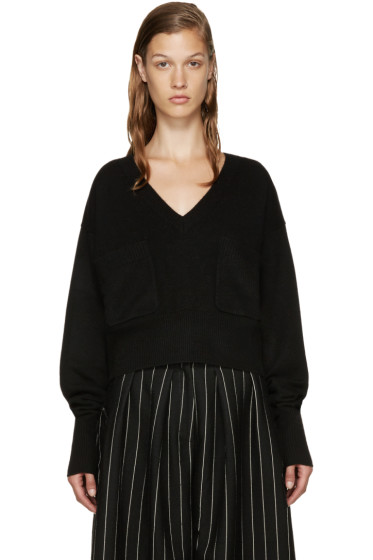 Chloé - Black Cashmere V-Neck Sweater