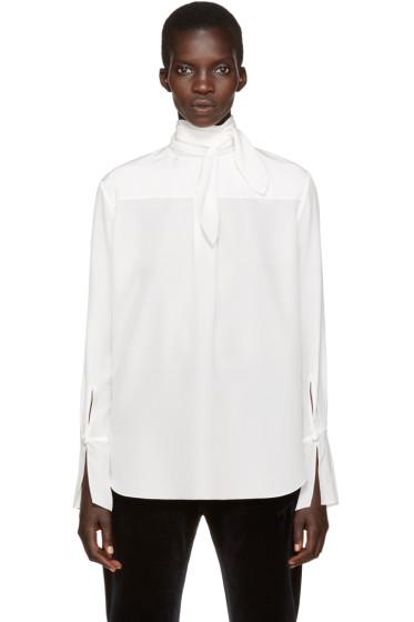 Chloé - White Neck Tie Blouse