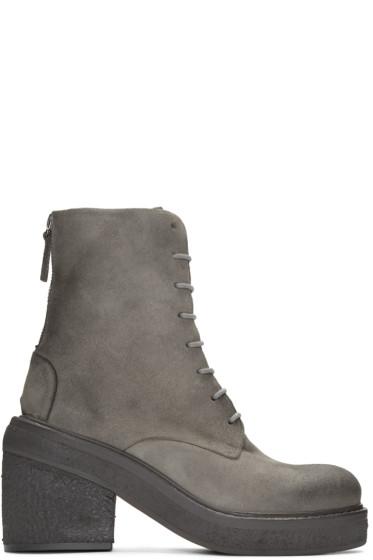 Marsèll - Grey Suede Parrotta Boots