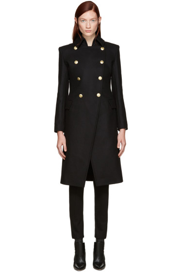 Pierre Balmain - Black Gold Buttons Coat