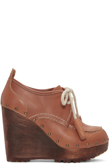 See by Chloé - Brown Clive Clog Boots