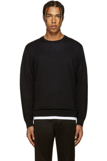 Burberry - Black Elbowpatch Sweater