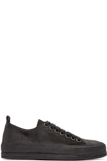 Ann Demeulemeester - Black Nubuck Sneakers