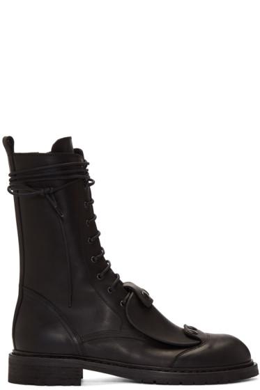 Ann Demeulemeester - Black Combat Boots