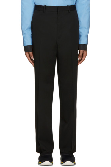 Marni - Black Wool Straight Trousers