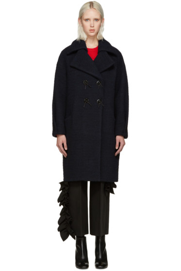 Kenzo - Blue Brushed Wool Coat