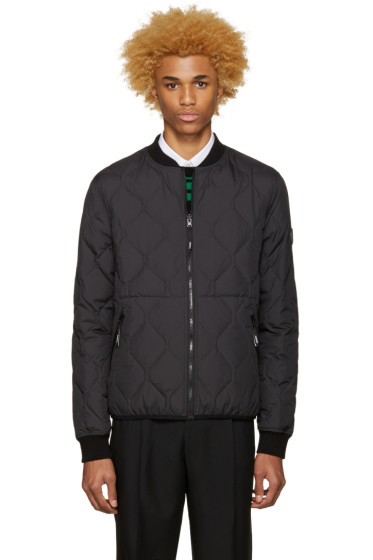 Kenzo - Black Reversible Quilted Bomber Jacket