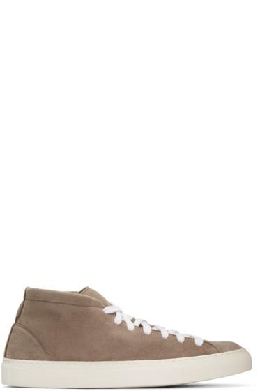 Diemme - Beige Loria Mid-Top Sneakers