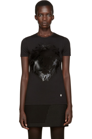 Versus - Black Large Lion T-Shirt