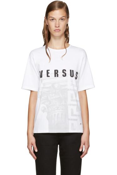 Versus - White Logo Print T-Shirt