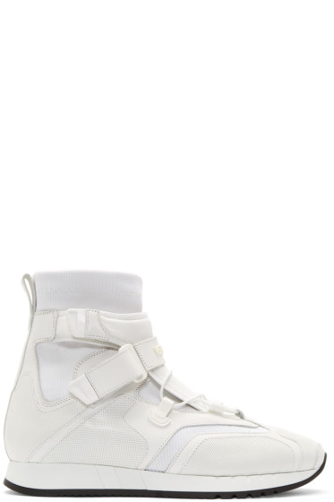 Versace - White Runway High-Top Sneakers