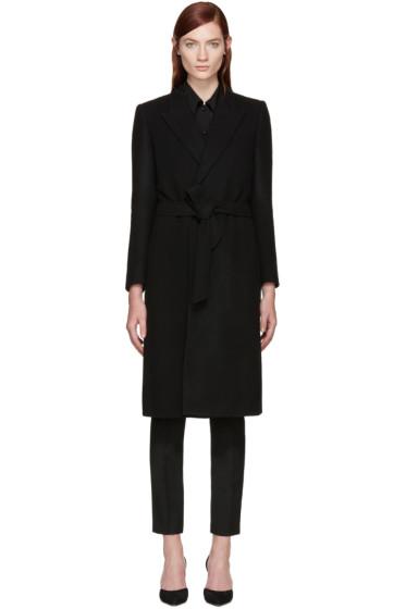 Saint Laurent - Black Wool Belted Coat