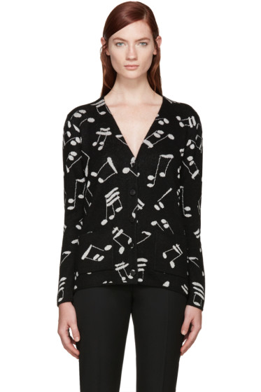 Saint Laurent - Black Music Note Cardigan