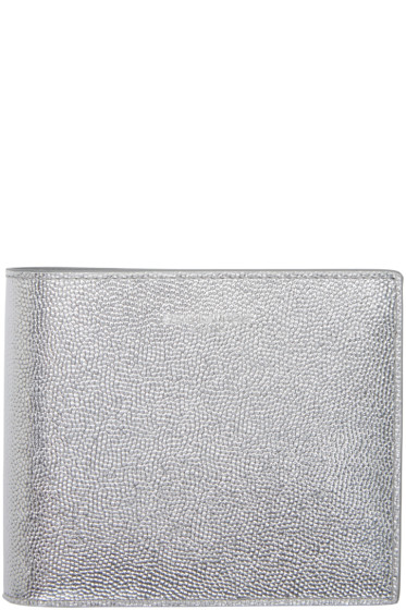 Saint Laurent - Silver Leather East/West Wallet