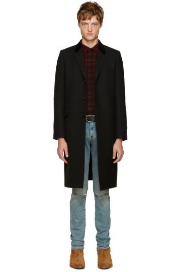 Saint Laurent - Black Long Wool Coat