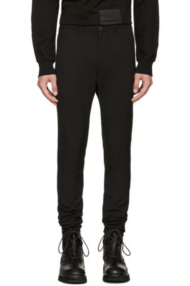 Julius - Black Wool Skinny Trousers