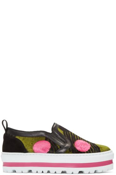 MSGM - Multicolor Dots Platform Sneaker