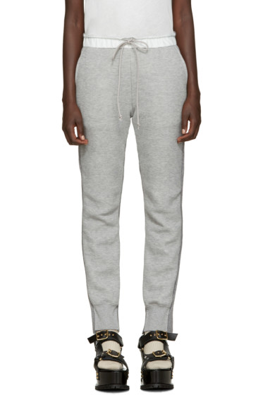 Sacai - Grey Knit Back Lounge Pants