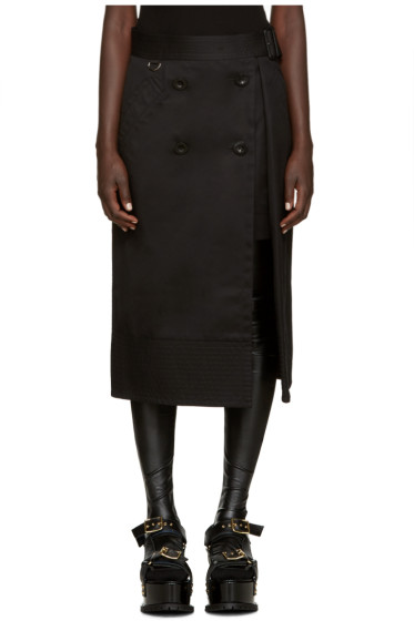 Sacai - Black Trench Wrap Skirt